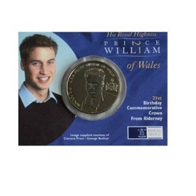 2003 BU £5 Crown - HRH Prince William of Wales 21st Birthday